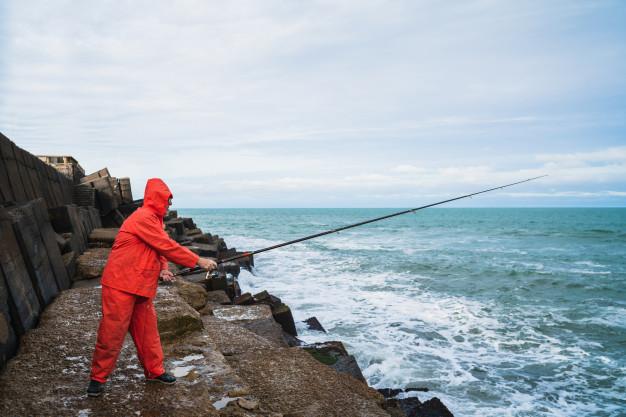 fiske ved havnen
